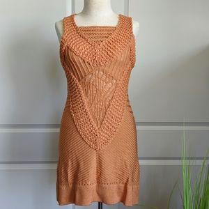 Custo Barcelona Sleeveless Mixed Knit Orange M NWT